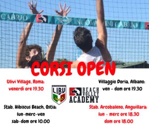 Corsi Open beach volley academy