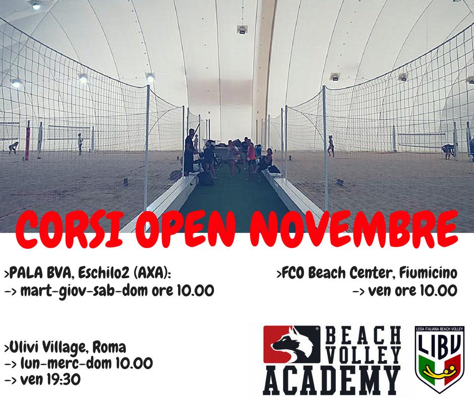 Corsi Open Novembre 2017
