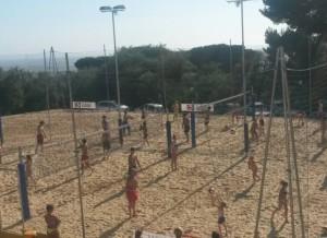 I campi di beach volley del Villaggio Doria