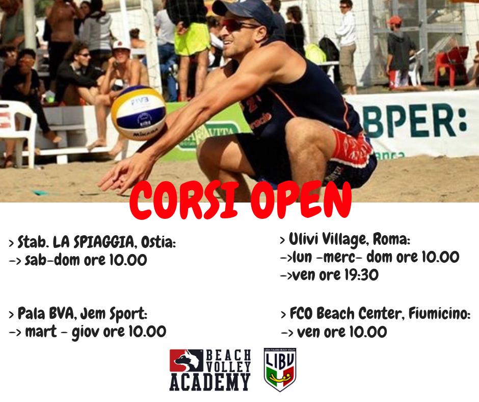 Locandina corsi open Beach Volley Academy
