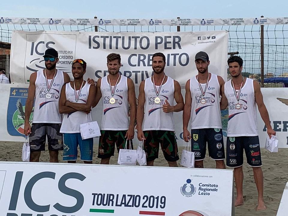 Carlo Bonifazi e Fabrizio Manni medaglia d'oro nel b1 di Latina. ICS Beach Volley Tour Lazio.